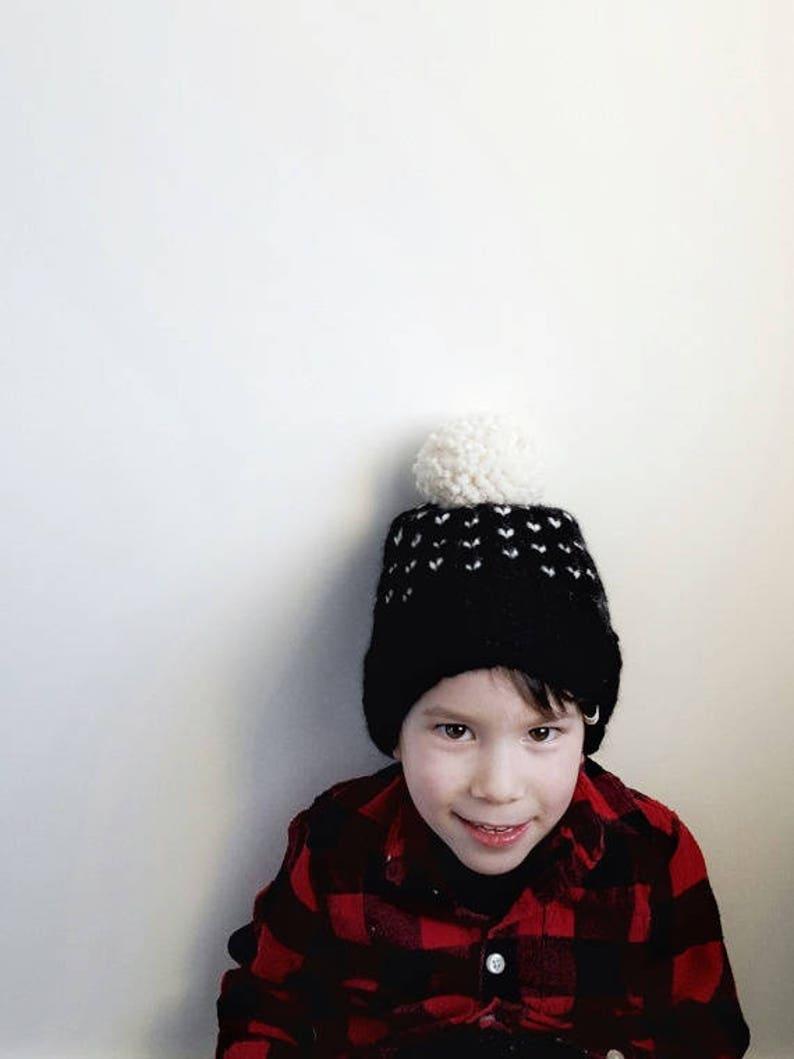 e1d8ac08c8fde Hand Knit FAIR ISLE POM Toque    Baby Hats    Kid Hats