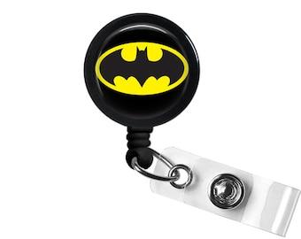 Logo DC Batman Photo Glass / Bottle Cap Retractable ID Badge Reel