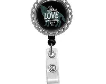 Quote Photo Glass /Bottle Cap Retractable ID Badge Reel, Nurse Badge Reel