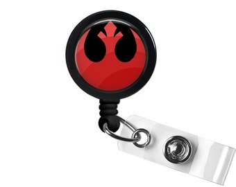 Rebel Alliance Symbol Photo Glass/ Bottle Cap Retractable ID Badge Reel