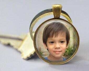 Custom Photo Glass Pendant, Custom Photo Necklace, Custom Photo Keychain