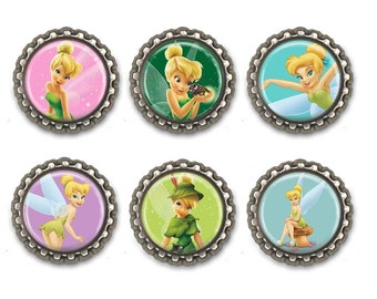 Tinker Bell Inspired Bottle Caps Necklace/ Keychain/Zipper Pulls