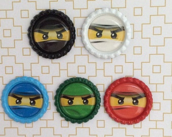 Ninjago Inspired Bottle Caps Necklace/Keychain/Zipper Pull