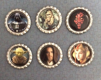 Star Wars Inspired Bottle Caps Necklace/Keychain/Zipper Pull