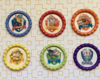 Paw Patrols Inspired Bottle Cap Necklace/ Keychain/ Zipper Pull