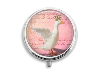 Royal Pet Goose Pill Box, Pill Case, Pill Container, Mints Container, Trinkets Box, Jewelry Box ( P033)