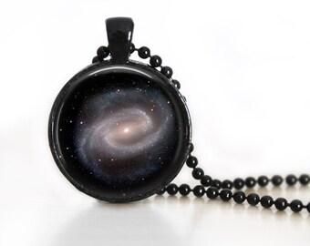 Spiral Galaxy Photo Glass Pendant/Necklace/Keychain