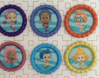 Bubble Guppies Inspired Bottle Caps Necklace/Keychain/Zipper Pull