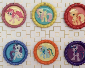 My Little Pony Inspired Bottle Caps Necklace/Keychain/Zipper Pulls