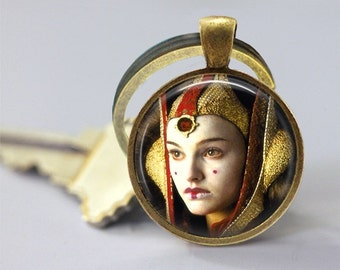 Star Wars Inspired Padme Amidala Glass Pendant/Necklace/Keychain