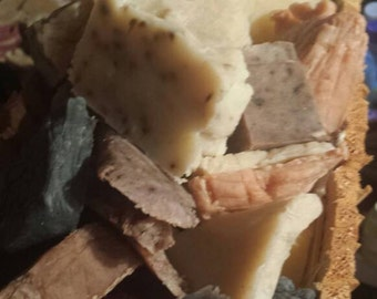 Fun mystery grab bag of all natural soap bits and ends.