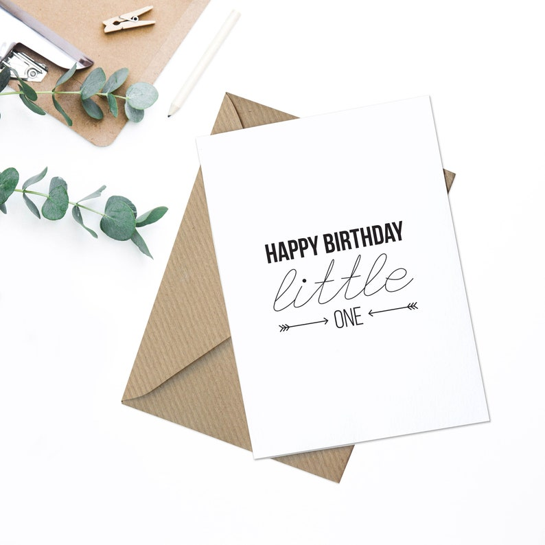Happy Birthday Little One Card A6 Free UK Delivery