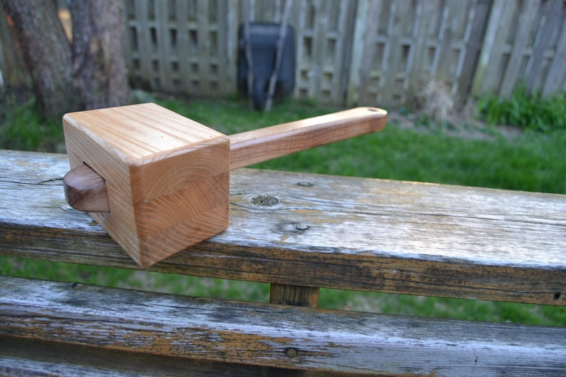 Joinery Mallet  Wooden Mallet  Ash and Walnut Mallet