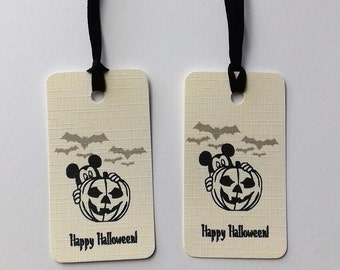 Disney Halloween tags, Disney Halloween gift bag tags, Trick or treat tags, Disney Tags.