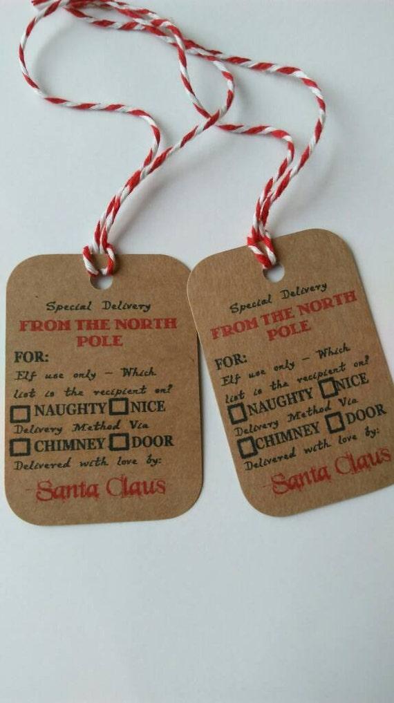 Weihnachten Weihnachten Geschenk-Etiketten Nordpol Lieferung | Etsy