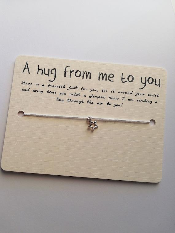 Sending You Hugs Wish Bracelet Cord Wish String Friendship Bracelet Gift