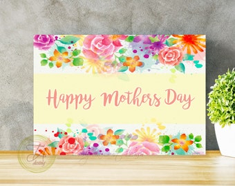 Mothers Day Card, Printable Card, Card for mother's day, Mum Card, Card For Mom, Mothers Day Greeting Card, Gift For Mum, Watercolor Card