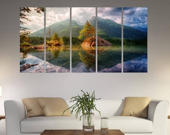 3 piece canvas art easy diy nature canvas print piece canvas mountain wall art mountains prints set lake art piece canvas art etsy
