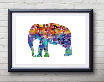 Elephant Print - Home Living - Wildlife Painting - Wildlife Elephant Art - Wall Decor - Home Decor, House Warming Gifts