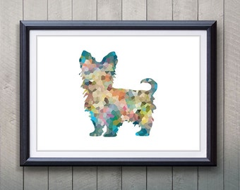 Yorkie Dog Print - Home Living - Animal Painting -  Yorkie Dog Animal Art - Wall Decor - Home Decor, House Warming Gifts