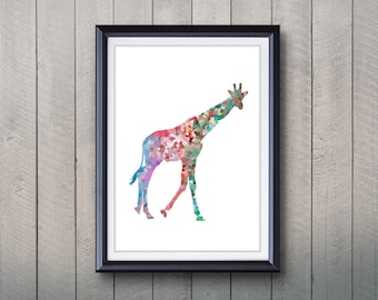Giraffe Animal Print - Home Living - Animal Painting - Giraffe Animal Art - Wall Decor - Home Decor, House Warming Gifts
