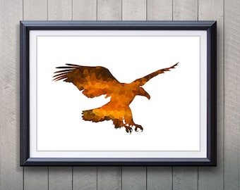 Eagle Bird Animal Print - Home Living - Animal Painting -  Bird Animal Art - Wall Decor - Home Decor, House Warming Gifts