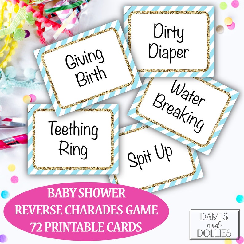 photograph about Printable Charades Cards called Kid Shower Video game, Little one Shower Charades Playing cards, Printable Youngster Shower Video game, Printable Bash Recreation, Printable Charades Playing cards, Local community Social gathering Activity