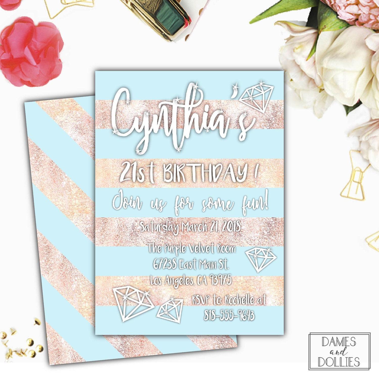 30th Birthday Party Invitation 21st Invite