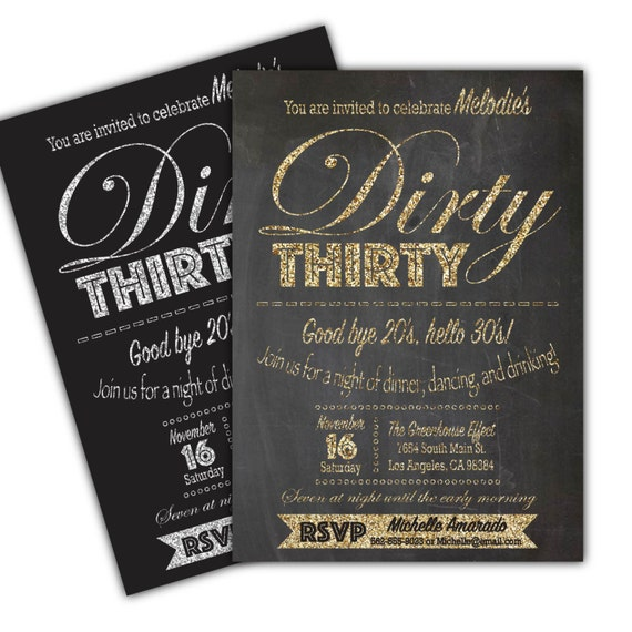 30th Birthday Party Invitation Adult Invite