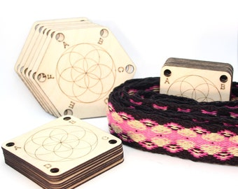 """Weaving cards """"seed of life"""" set of 10 to choose from"""
