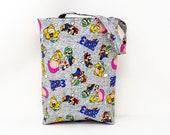 Car Bag made with licensed Super Mario Fabric / Car Organizer