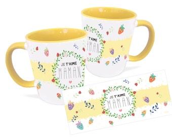 I love you mom mug, personalized mug, Mother's Day gift, Unique coffee mug, ceramic mug, coffee mug