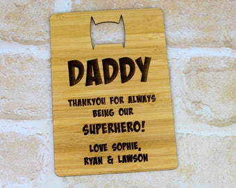 Fathers Day Superhero Card - Fathers Day Gift
