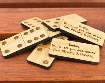 Bamboo Wood Domino Set