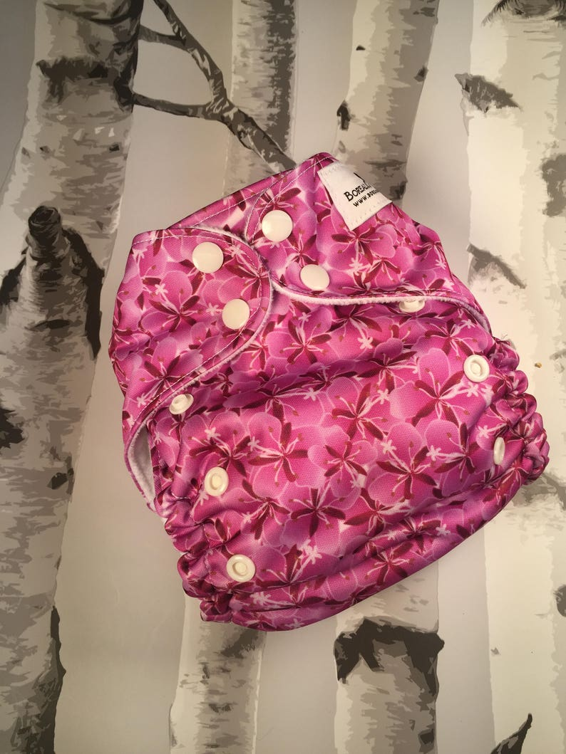 One size cloth diapers. Pink fireweed cloth diaper os cloth image 0