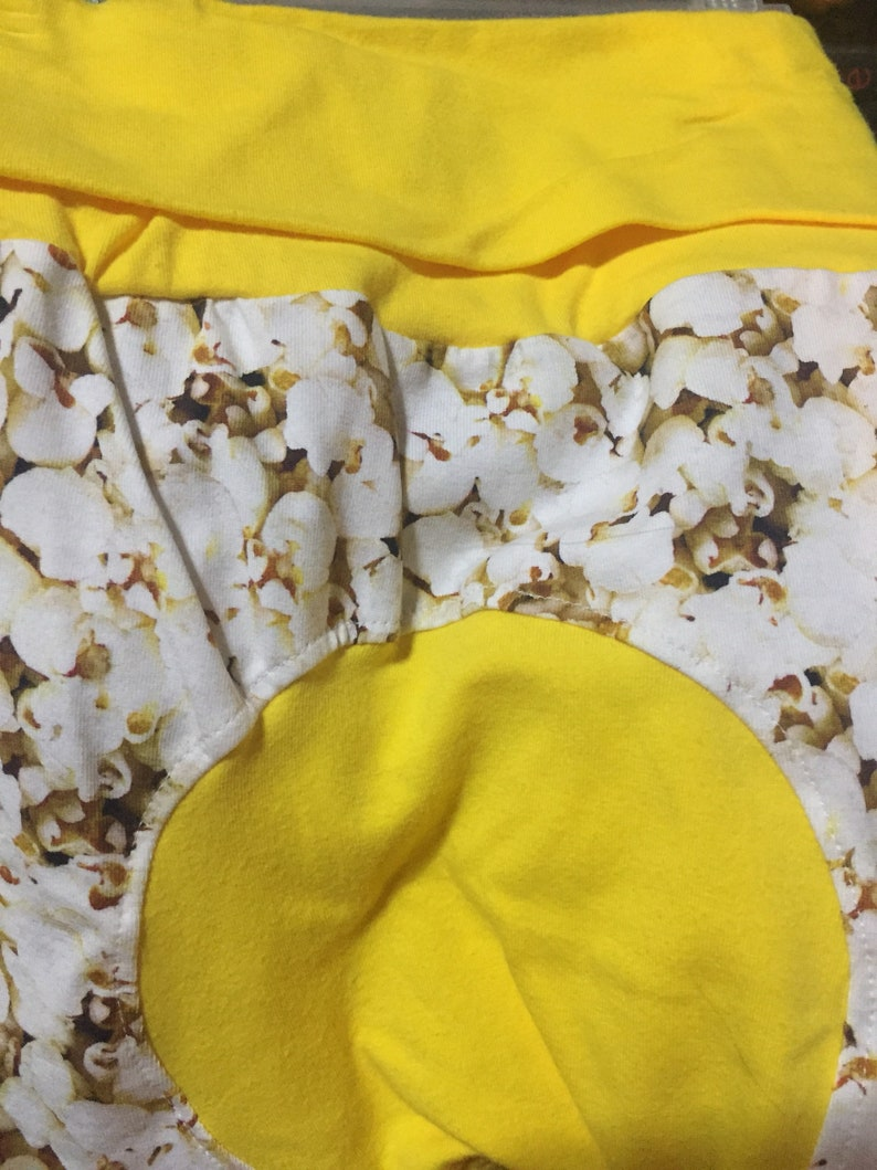 toddler/baby pants popcorn maxaloones with yellow trim Size image 0