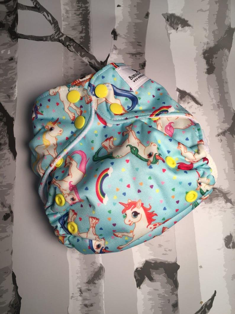 One size cloth diapers. Unicorn cloth diaper AI2 unicorn image 0