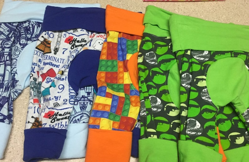 Miniloones flash sale.  Baby pants fit sizes 3mo-12mo. image 0