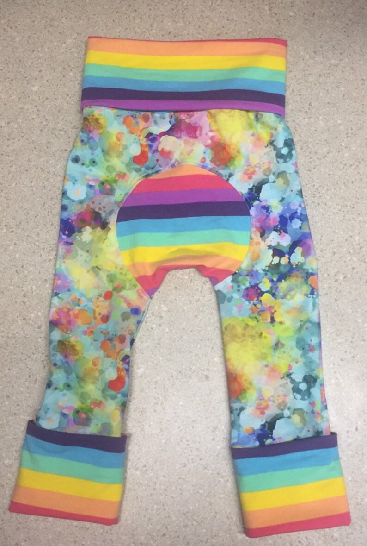 Maxaloones baby pants baby harem pants Borealis Britches image 0