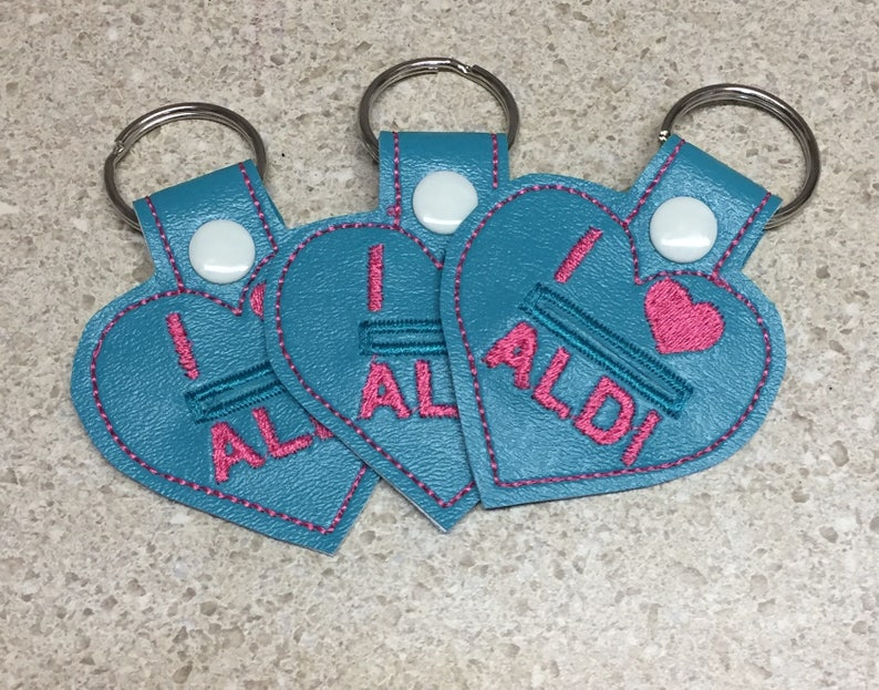 Set of three ready to ship Key fob quarter keeper quarter image 0