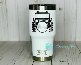 a4885fc9003 Jeep Girl, Jeep Girl Yeti, Jeep Life, Monogram Yeti, Jeep Monogram, Off  Road, Topless, Jeep, Custom Yeti, Car with bow, Jeep Life Yeti