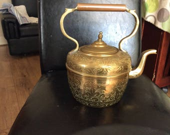 Brass kettle with  lovely patterns