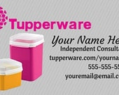Cartes De Visite Tupperware Imprime Ventes 500 Business