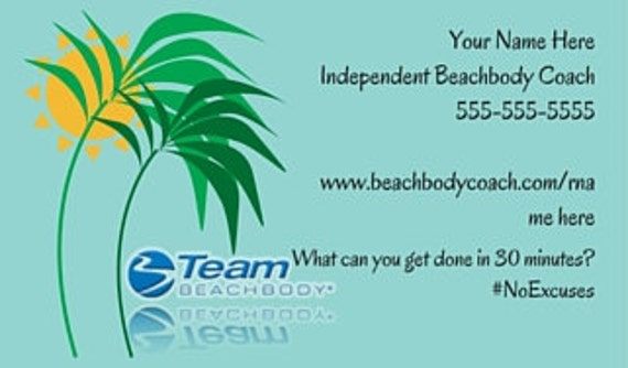 Beachbody Business Cards Beachbody Printed Business Cards 21 Etsy