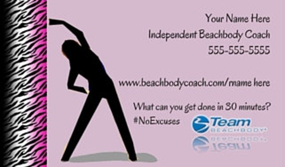 Beachbody Business Card Printed Printed Beachbody Card Etsy