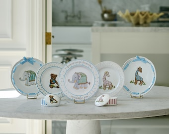 Personalized Baby Plate - Elephant