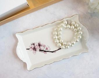 Scalloped Tray - Cherry Blossom