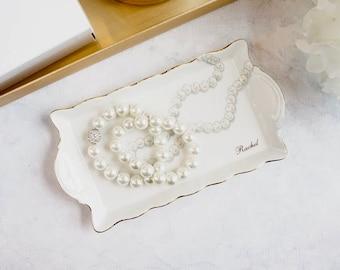 Scalloped Tray - Pearls