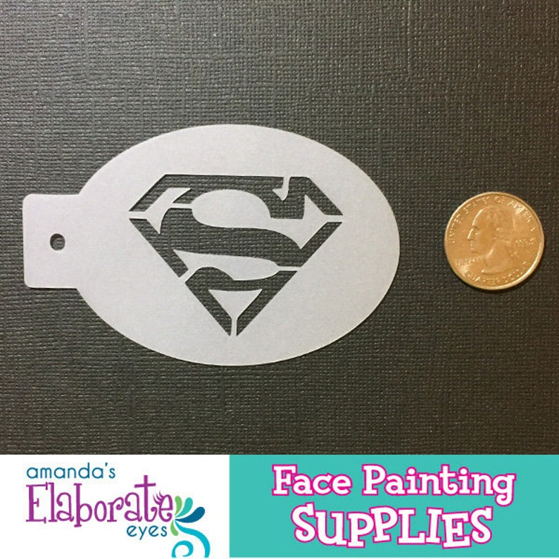SUPER GUY  Face Painting Stencil Mini image 0