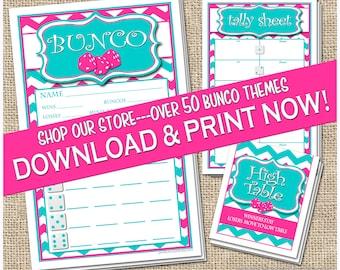 Printable Bunco Cards Bunko Scorecards Score Sheets Instant Download Free Changes
